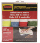 Rubbermaid Comm Prod 1824723 Sanitizer Safe Microfiber Cloths, 4-Pk.
