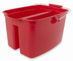 Rubbermaid Comm Prod 1887094 Plastic Double Bucket, Red, 19-Qt.