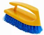 Rubbermaid Comm Prod FG648200COBLT Iron-Handle Scrub Brush, 6-In.