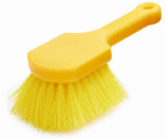 Rubbermaid Comm Prod FG9B2900YEL Short-Handle Plastic Utility Brush, 8-In.