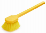 Rubbermaid Comm Prod FG9B3200YEL Long-Handle Plastic Utility Brush, 20-In.