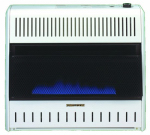 Procom Heating MG30TBF Blue Flame Gas Wall Heater, Dual Fuel, Vent-Free, 30,000-BTU