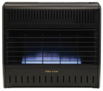 Procom Heating MNSD300TGA Blue Flame Garage Heater, Dual Fuel, Vent-Free, 30,000-BTU