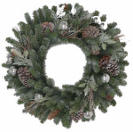 Polygroup Limited GD20P2045X00 Tacoma Artificial Wreath, Frosted, 24-In.