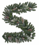 Polygroup Limited GT60P2045X00 Tacoma Frosted Garland, 6-Ft.