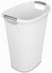 Sterilite 10658004 Waste Basket Can, White, 10.5-Gallon