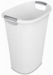 Sterilite 10658004 Waste Basket Can, White, 10.5-Gallon