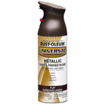 Rust-Oleum 271472 Metallic Spray Paint, Burnished Amber, 11-oz.