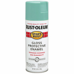 Rust-Oleum 284678 Stops Rust Spray Paint, Gloss  Light Turquoise, 12-oz.