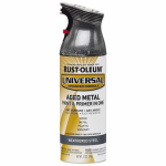 Rust-Oleum 285073 Metallic Spray Paint, Weathered Steel, 12-oz.