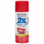 Rust-Oleum 277994 Painters Touch 2X Spray Paint, Satin Poppy Red, 12-oz.