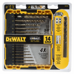 Dewalt Accessories DWA1240 Cobalt Pilot Point Drill Bit Set, 14-Piece