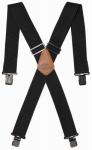 Pull R Holding 61120 Web Elastic Suspenders, Black