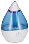 Crane Usa EE-5302 Droplet Ultrasonic Cool Mist Humidifier, Blue/White, .5-Gal.