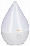 Crane Usa EE-5302W Droplet Ultrasonic Cool Mist Humidifier, White, .5-Gal.