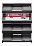 Stack On Products CB-12 Tool Storage Organizer, Clear View, 12-Bin