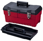 Stack On Products PR-19 Professional Tool Box, Black/Red, 19-In.