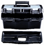 Stack On Products PTB-12LS Tool Box, Black Plastic, 12-In.