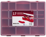 Stack On Products SBR-18 Tool Storage Box, Red, 17 Compartments