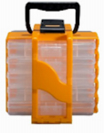 Stack On Products SBT-705 Smart Parts Organizer Tote, Yellow