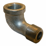 "Larsen Supply 32-2501 1/8"" Stainless Steel 90DEG ST Elbow"