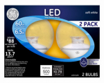 G E Lighting 17856 LED Clear Globe Lamp, 7-Watt, 2-Pk.