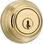 Kwikset 985 3 SMT CP K4 Signature Brass Double Cylinder Deadbolt with SmartKey