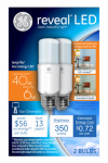 G E Lighting 36455 Reveal LED Bright Stik Bulb, 6-Watt, 2-Pk.