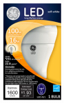 G E Lighting 22711 LED Omni-Directional Light Bulb, White, 16-Watt