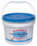 Bekaert 162837 8-Gauge Barbed Fence Staples, 2-In., 50-Lb. Bucket