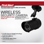 First Alert Brk DWC-400 Wireless Security Camera, 500-Ft. Range
