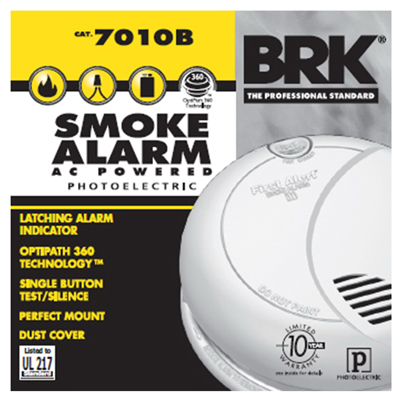 First Alert BRK 7010B Hardwire Smoke Alarm with Photoelectri