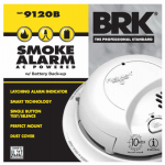 First Alert Brk 9120B Smoke Alarm, AC  With Battery