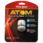 First Alert Brk P1010 Photoelectric Micro or Micron or Microfiber Smoke Alarm, 10-Year