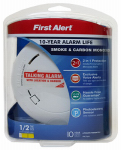First Alert Brk PRC710V 2-In-1 Photoelectric Smoke Detector, 10-Year
