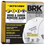 First Alert Brk SC7010BV Photoelectric Smoke Alarm, AC/DC