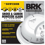 First Alert Brk SC9120B Smoke/CO Alarm, AC/DC
