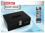 First Alert Brk 3020F Locking Cash Box, Steel, 4 x 10.8 x 7.5-In.