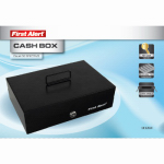 First Alert Brk 3026F Locking Cash Box, Steel, .2-Cu. Ft.