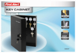 First Alert Brk 3060F Key Cabinet, Wall-Mount, Steel, .2-Cu. Ft.