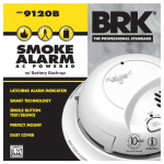First Alert Brk 9120B6CP Smoke Alarm, AC Hardwired, 6-Pack