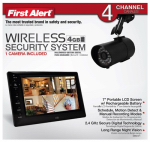 First Alert Brk DWS-471 Digital Wireless Recording System, 7-In. LCD Display
