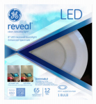 G E Lighting 83572 Reveal LED Can Light Retrofit Kit, 6-In., 12-Watt