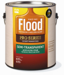 Flood/Ppg Architectural Fin FLD812-01 Pro Series Stain Base, Neutral Base, Semi-Transparent, Acrylic, 1-Gal.