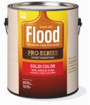 Flood/Ppg Architectural Fin FLD820-01 Pro Series Stain Base, White/Pastel Base, Solid Color, Acrylic, 1-Gal.