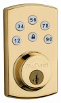 Kwikset 99070-102 Power Keyless Entry Deadbolt, Brass