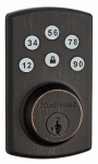 Kwikset 99070-103 Power Keyless Entry Deadbolt, Bronze