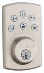 Kwikset 99070-101 Power Keyless Entry Deadbolt, Satin Nickel