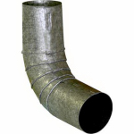 "Construction Metals CERD3B-75-26 3"" Round Bond 75DEG Elbow"