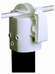 Gallagher North America G68513 Electric Fence Insulator, T-Post, White, 10-Pk